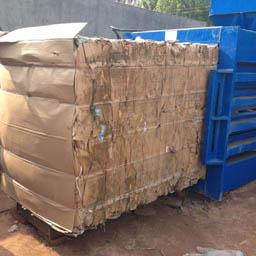 创萤牌固废垃圾打包机 工业垃圾打包机